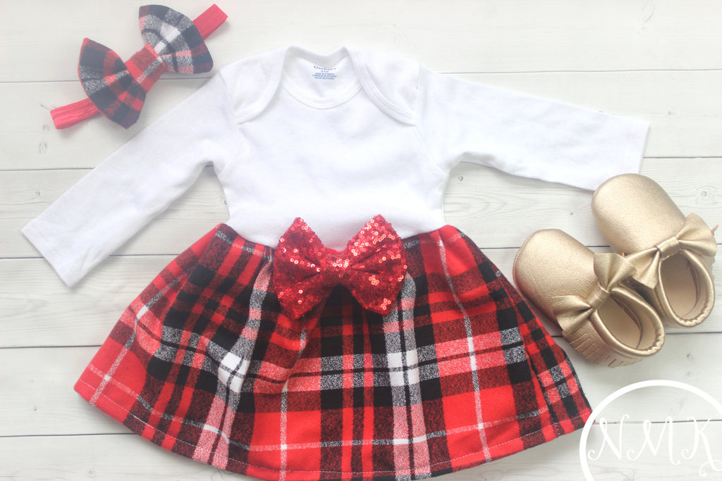 NylaMarieKids. Baby Girl Red Christmas ... bf8fb43e932