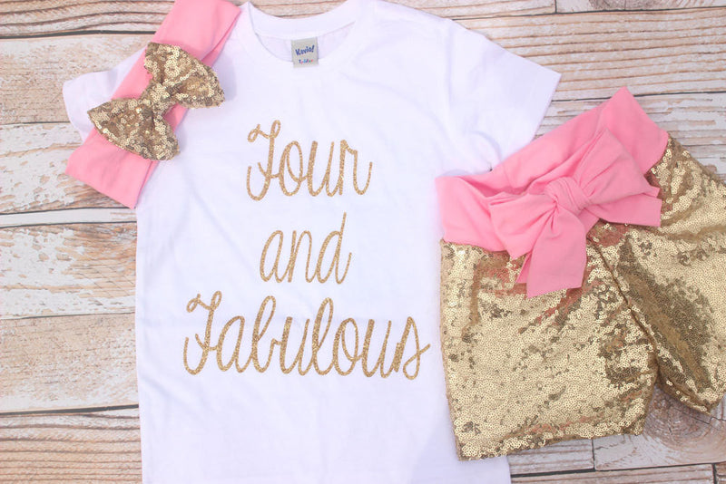 4th Birthday Outfit Girl Fourth Shirt Four Year Old