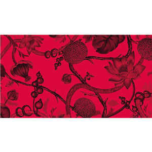 BOTANICAL SCARF FELTED MEN - RED