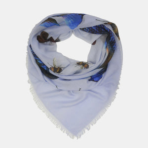 BUTTERFLY & FISH SCARF - BLUE