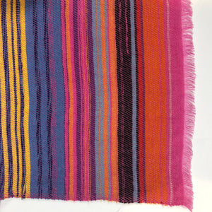 COLOURFUL STRIPE SCARF SMALL - PINK