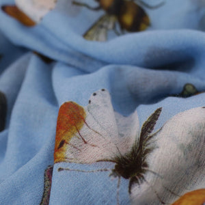 BUTTERFLY DANCE SCARF - WATERBLUE