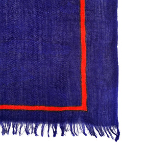 """ZEBRA FAMILY"" SCARF - ROYAL BLUE"