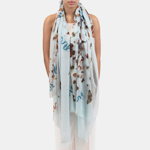 JUNGLE DANCE SCARF - BLUE