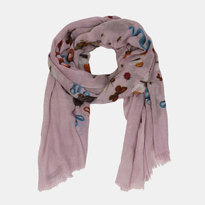 JUNGLE DANCE SCARF - TAUPE