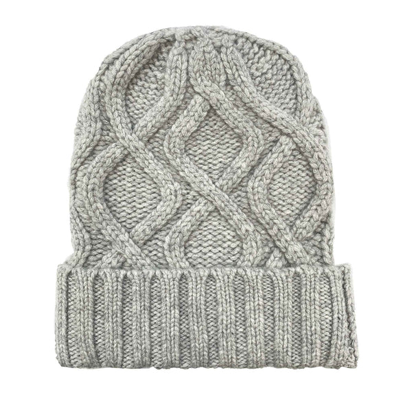 KABLE KNIT CAP - FOGGY