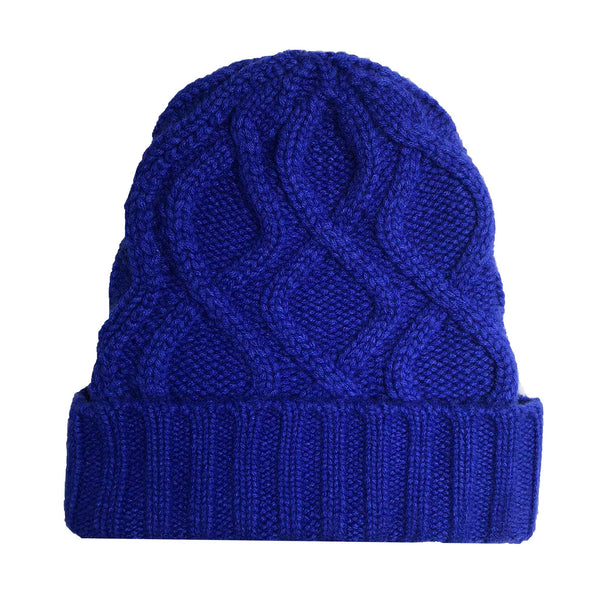 KABLE KNIT CAP - ROYAL BLUE