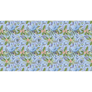 PARROT SCARF - WATERBLUE