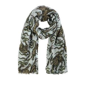 """TIBET DRAGON"" SCARF - BLUE"