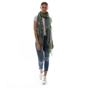 PARROT SCARF - GREY