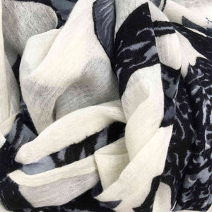 BOTANICAL SCARF MEN - WHITE