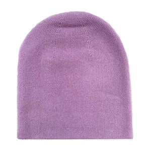 PURE CASHMERE CAP - PURPLE