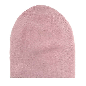 PURE CASHMERE CAP - ROSE