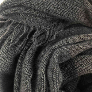 XXL HANDFELTED CASHMERE SCARF MEN - CHARCOCAL