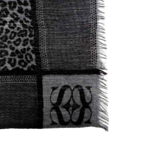 WE LOVE LEO SCARF FELTED – DARKGREY