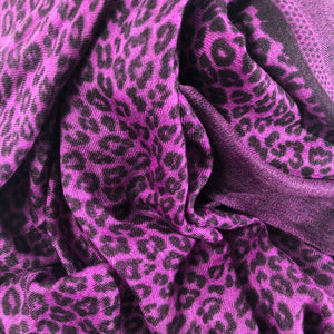 WE LOVE LEO SCARF FELTED – PURPLE