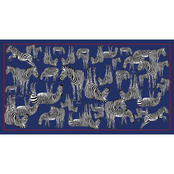ZEBRA FAMILY - ROYAL BLUE