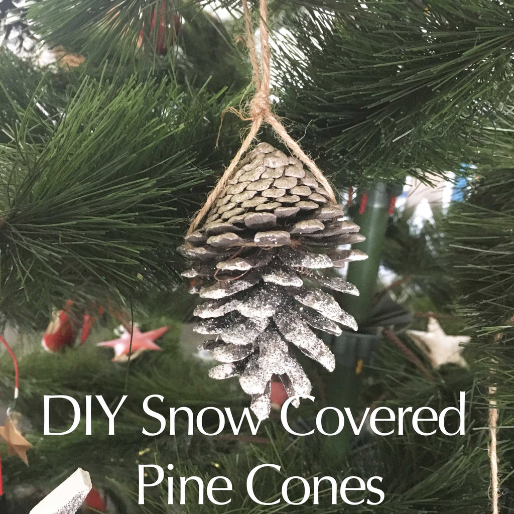 DIY Snow Covered Pine Cones