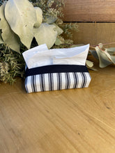 Load image into Gallery viewer, Charcoal stripe tissue purse