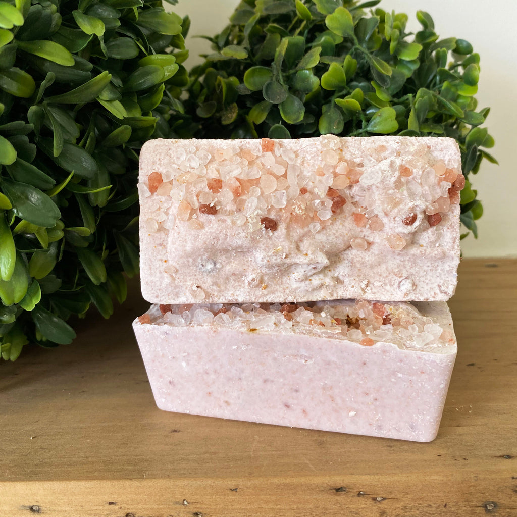Rose and Pink Clay Salt Bar