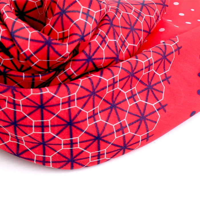 Silk-Cotton Scarf CIRC#06 88*88