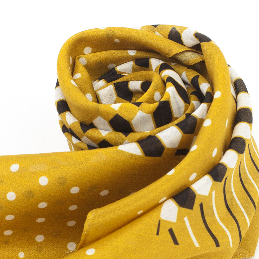 Cotton-Silk scarf DIJON#05 88x88