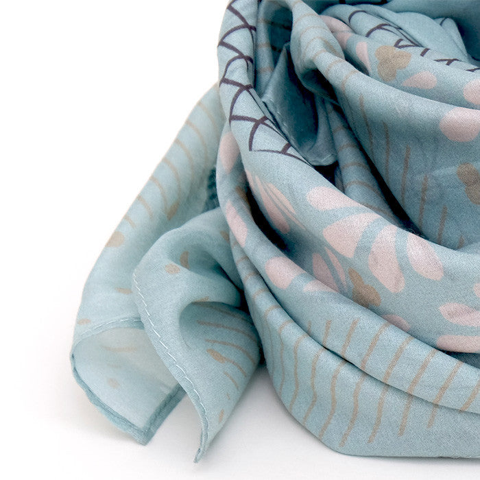 Silk-Cotton Scarf FALL#09 90x90