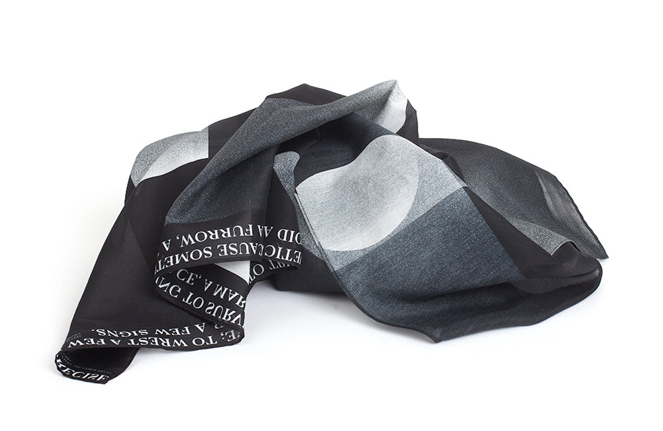 Write Scarf, 88x88 cm, Cotton-silk Blends