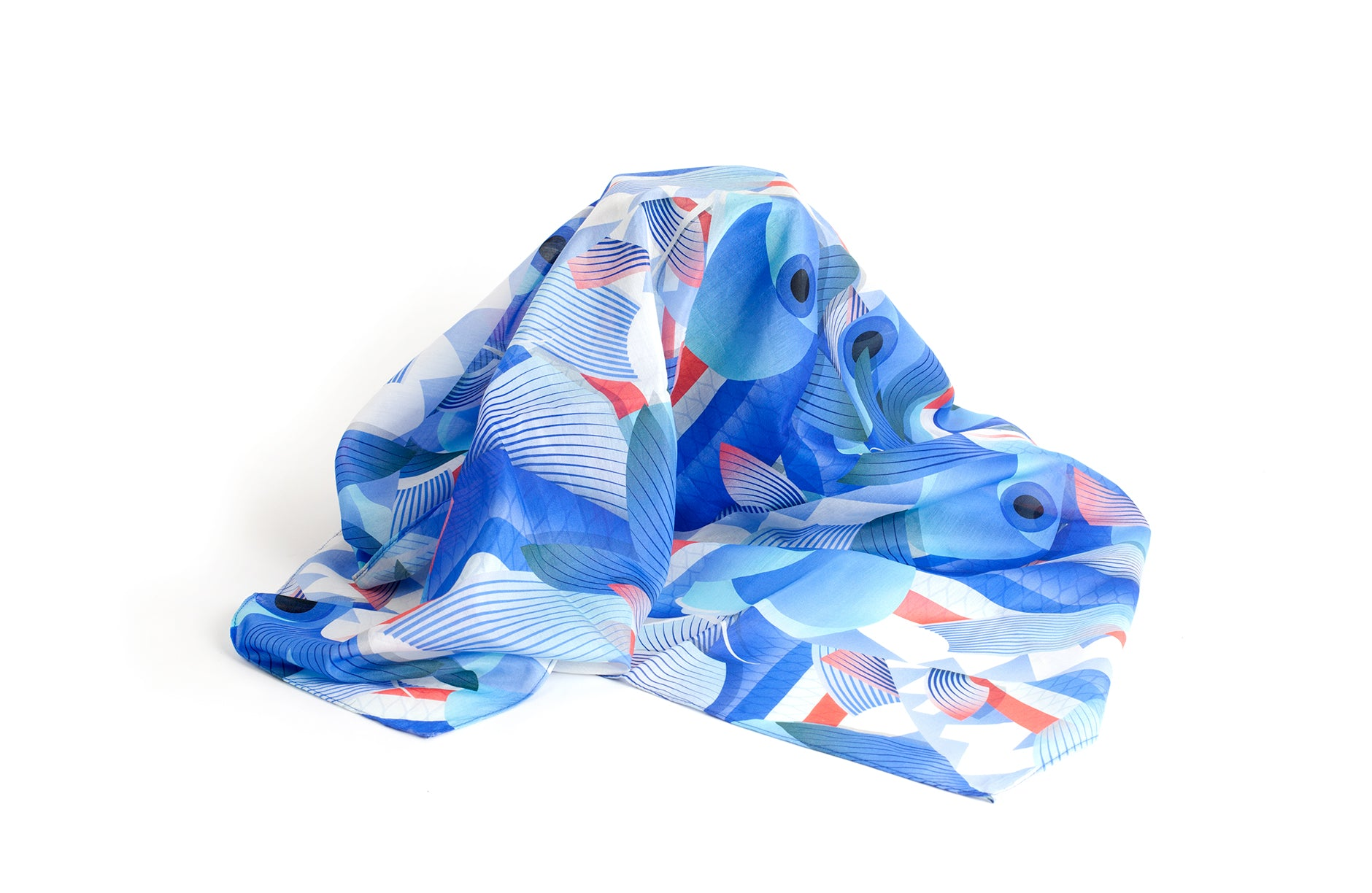 Barbunia Handkerchief, 42x42 cm, Cotton-Silk Blends