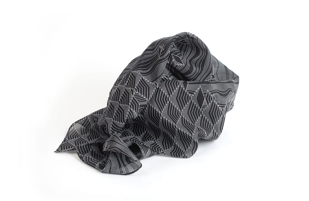 Tamarix Scarf, 88x88 cm, Cotton-silk Blends