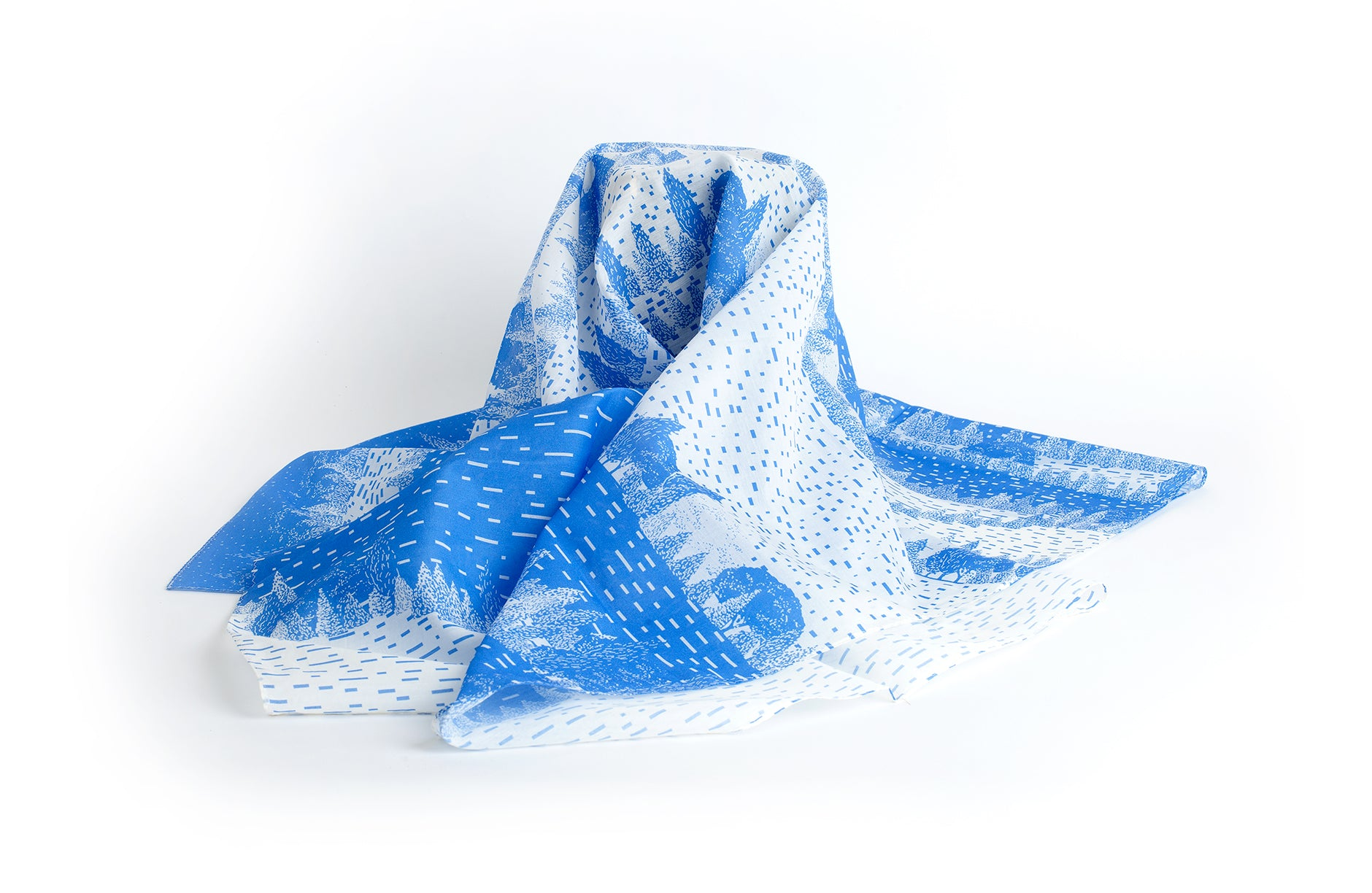 View Scarf, 88x88 cm, Cotton-Silk Blends
