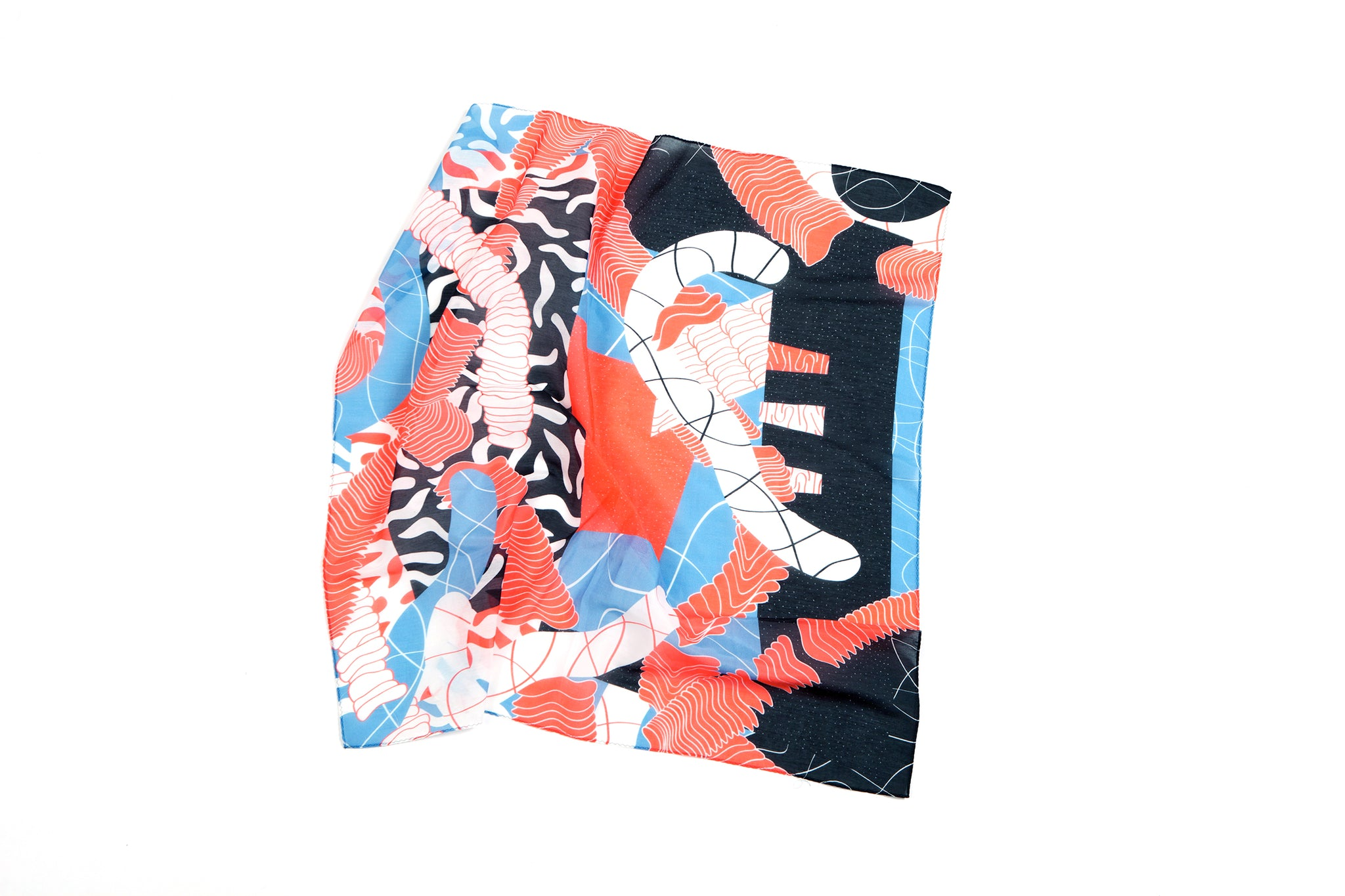 Saturation Medium Scarf, 65x65 cm, Cotton-Silk Blends