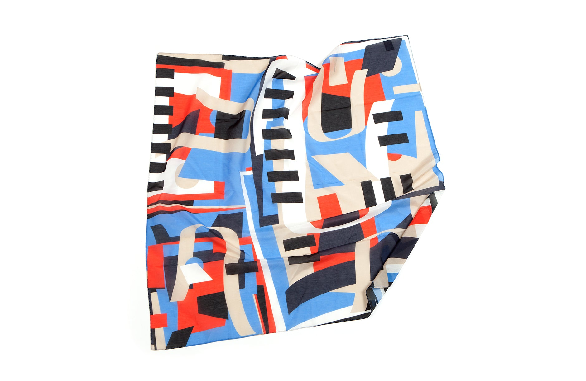 Random Medium Scarf, 65x65 cm, Cotton-Silk Blends
