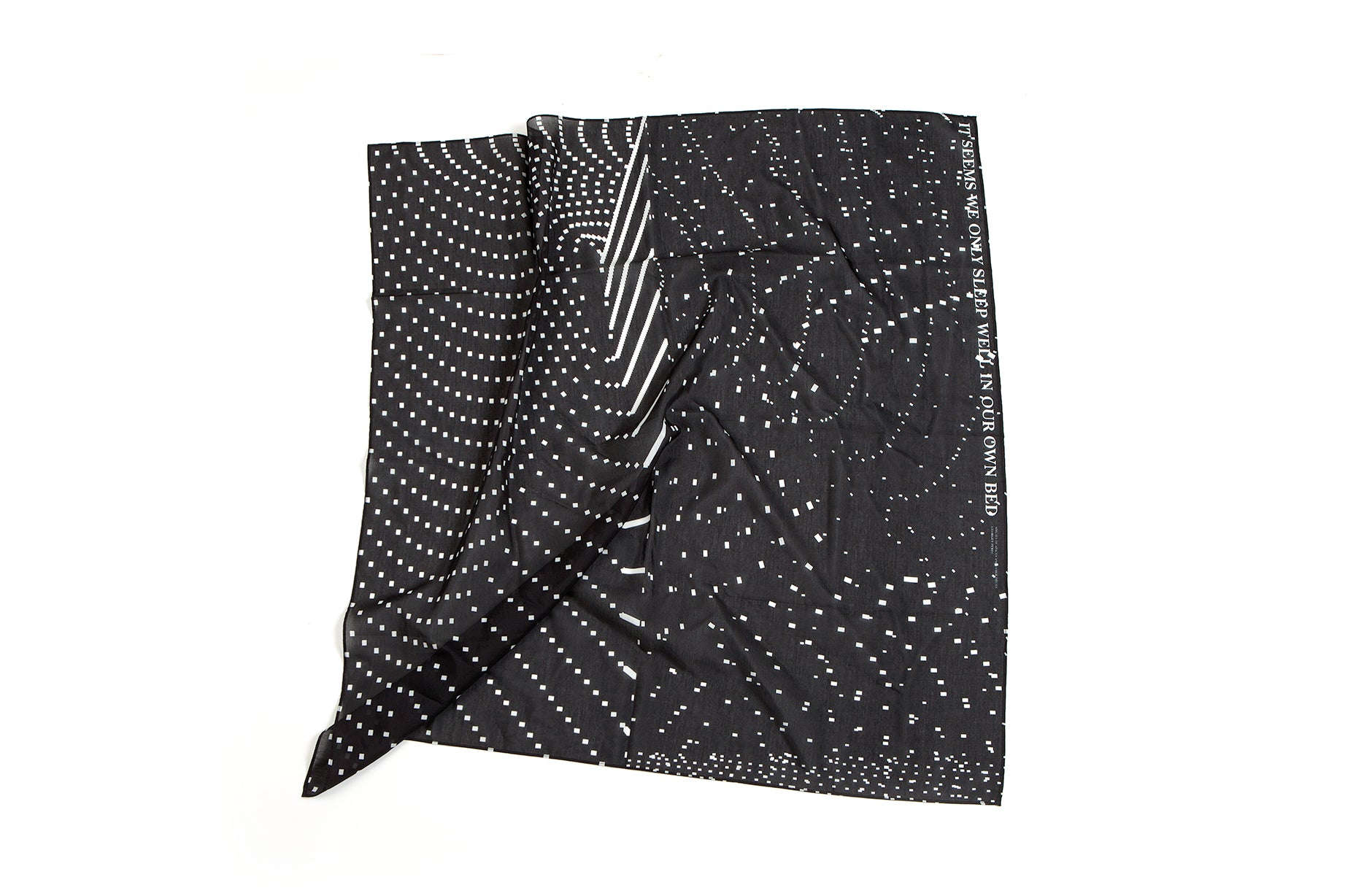 Sleep Scarf, 88x88 cm, Cotton-silk Blends