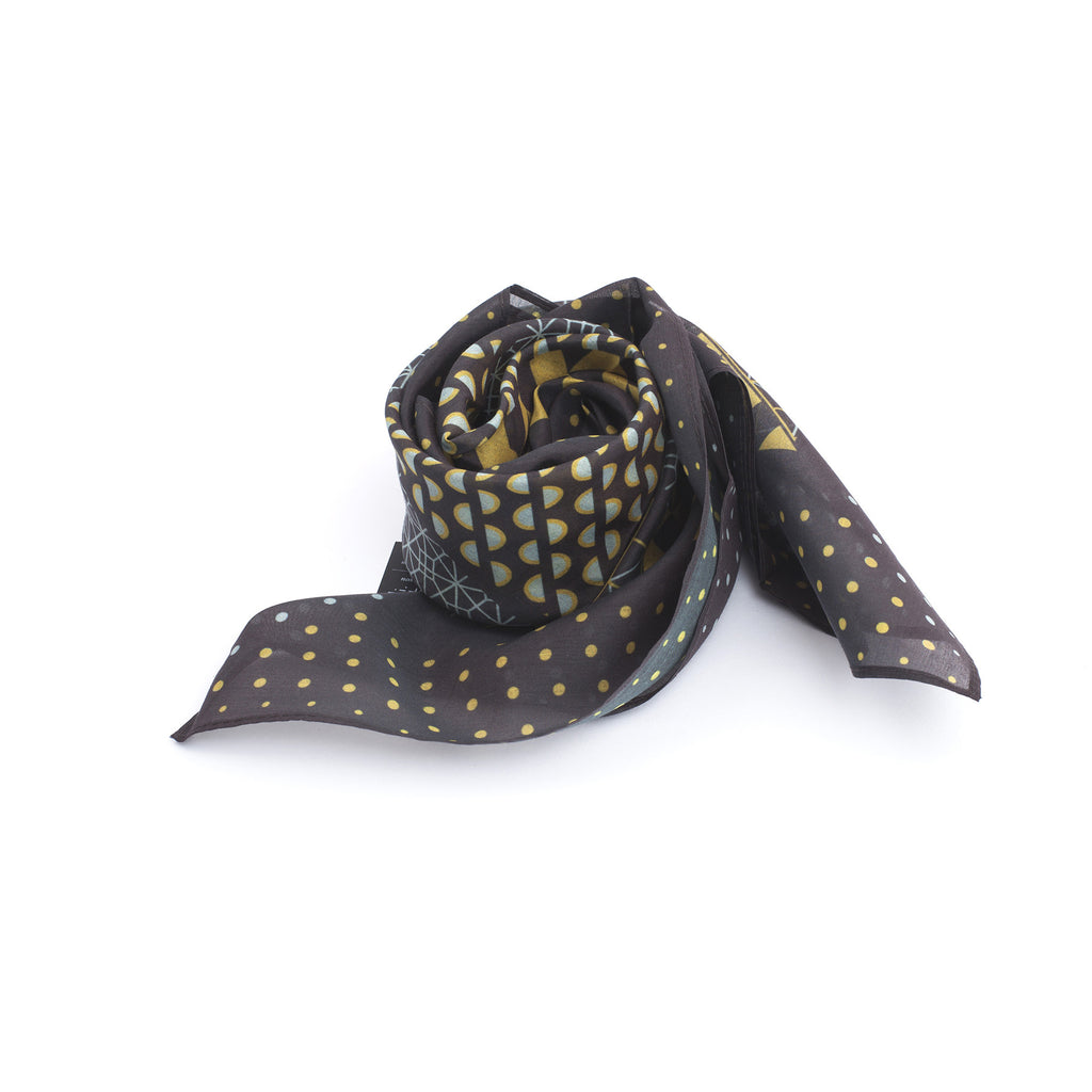 Silk-Cotton Bandana BROWNTURK#01 65x65
