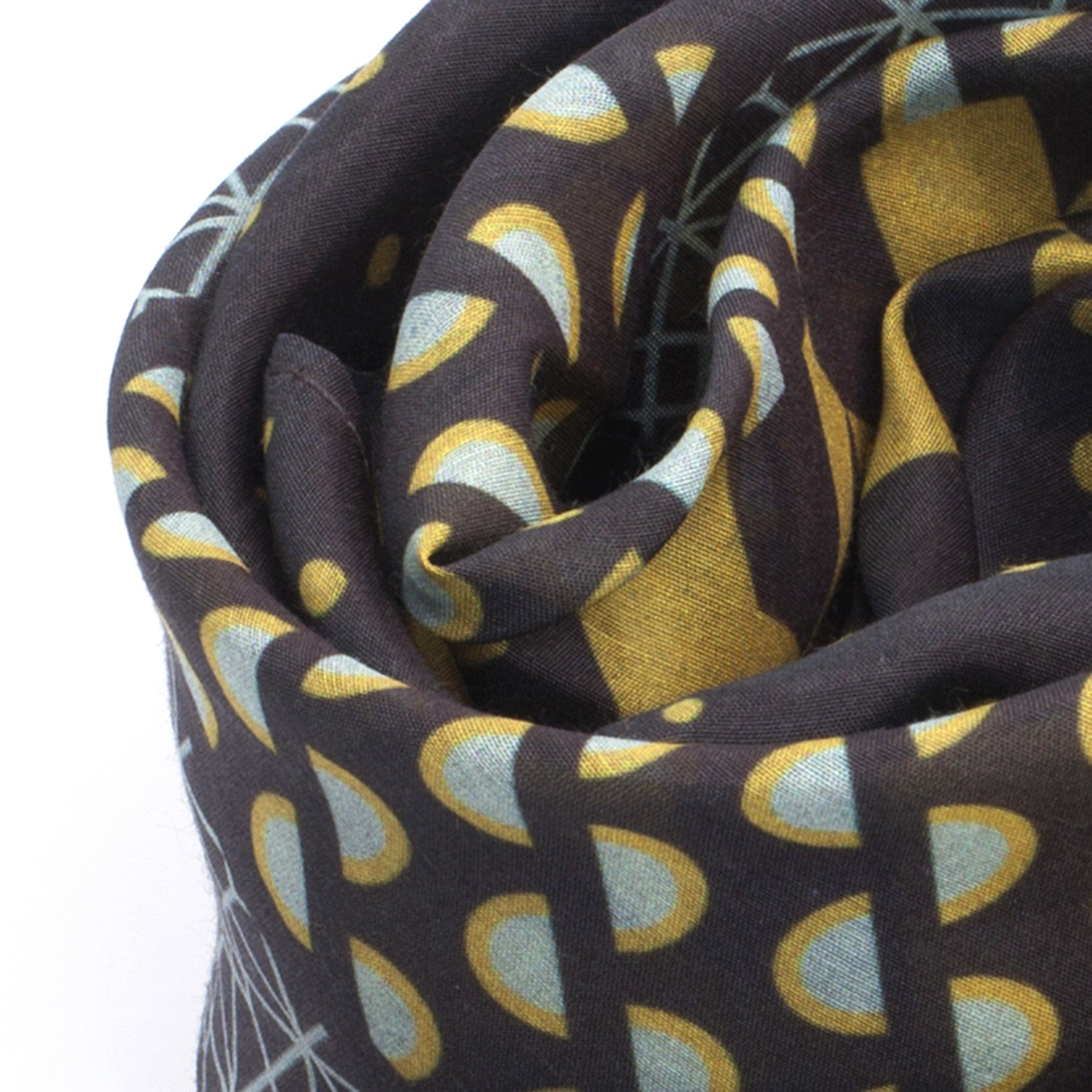 Silk-Cotton Scarf BROWNTURK#01 88x88