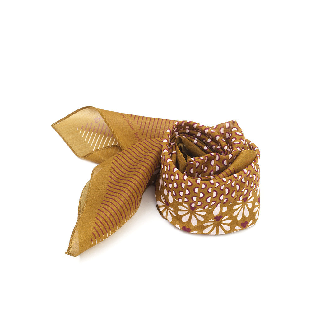 Silk-Cotton Bandana GOLDEN#01 65x65