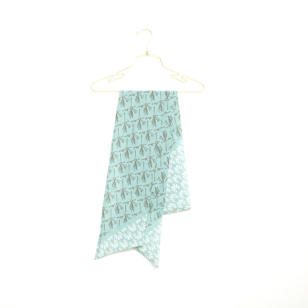 Silk-Cotton Skinny Scarf FALL#09 210x16