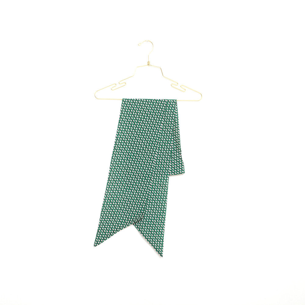 Silk-Cotton Skinny Scarf MEADOW#03 210x16