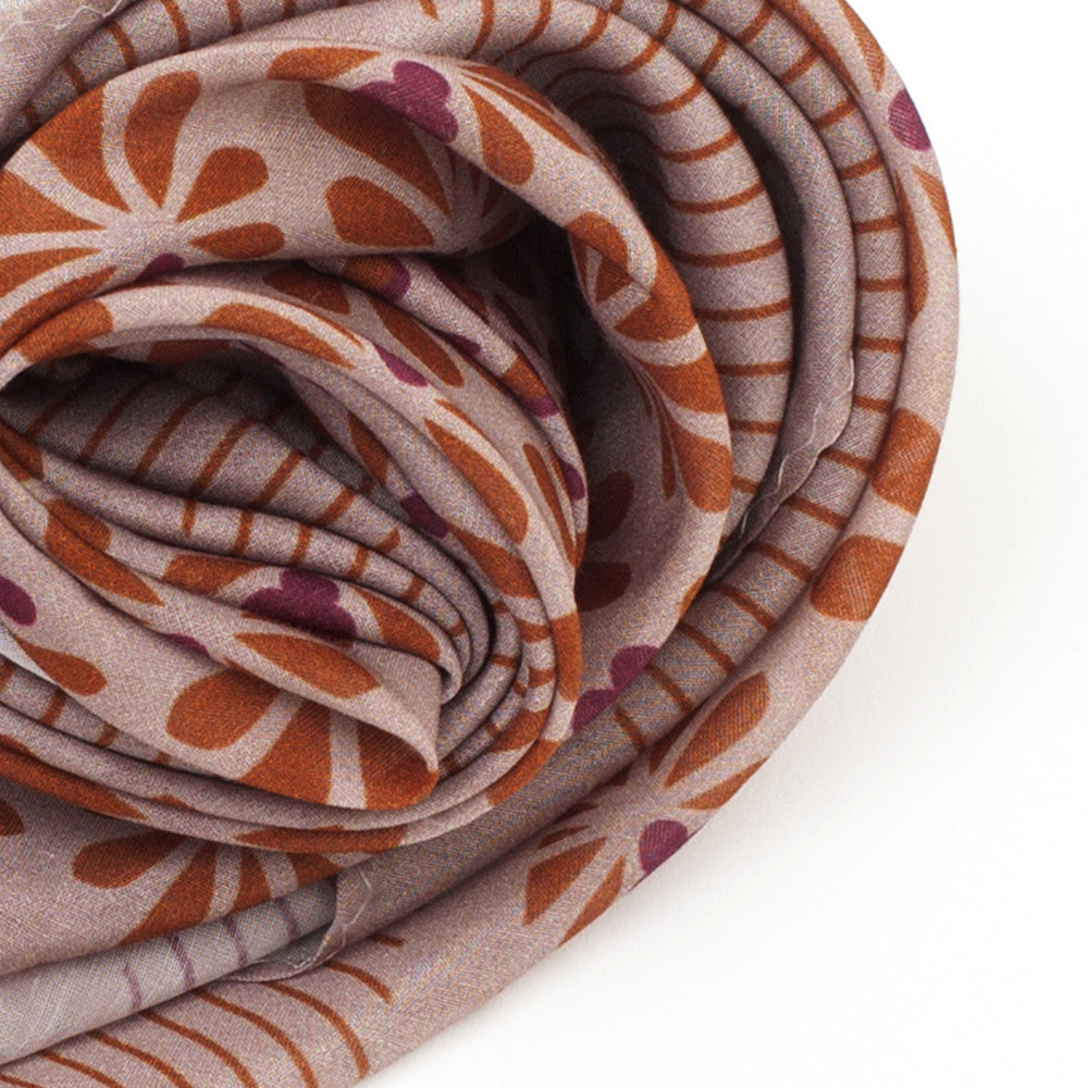 Silk-Cotton Scarf TAUPE#01 88x88
