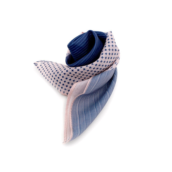 Silk-Cotton Scarf VOR#10 88x88