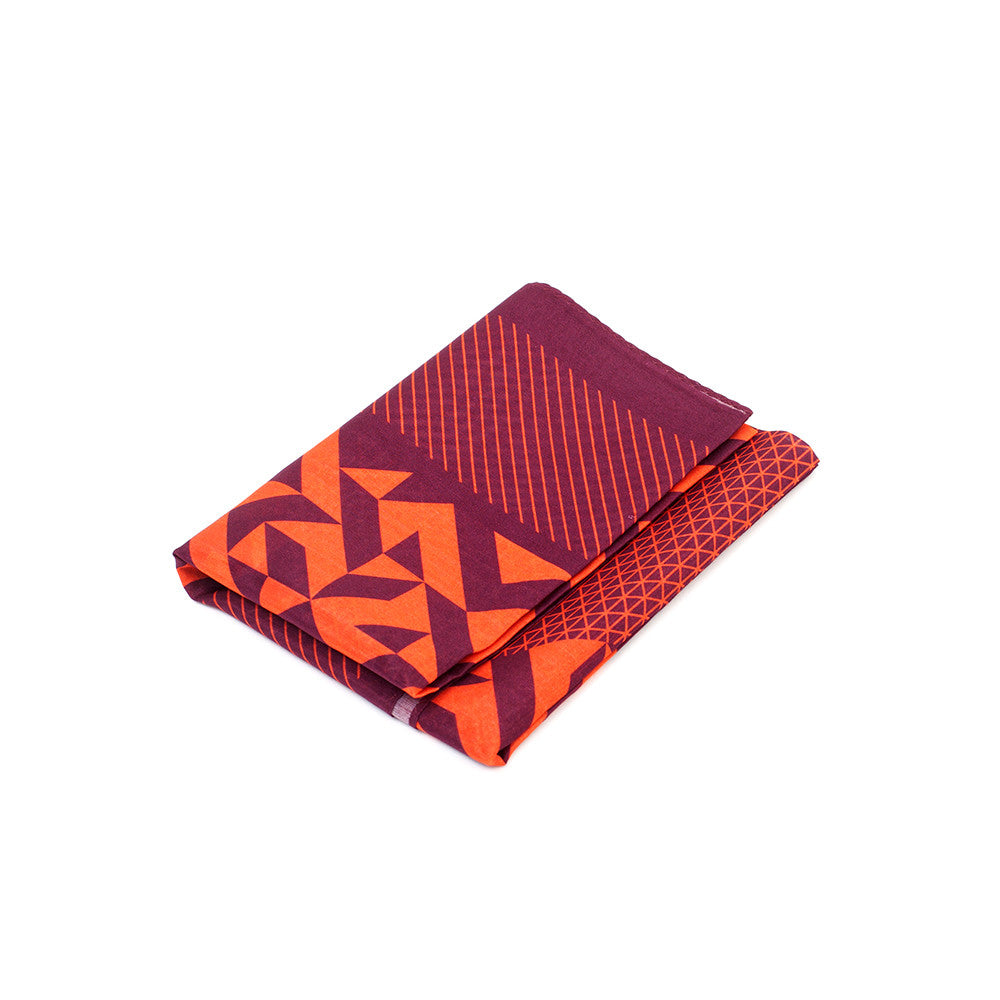 Silk-Cotton Bandana WINE#03 65x65