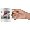 Personalized All You Need is Love and Grandkids 11oz Mug