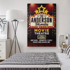 Personalized Welcome To Family Movie Theatre Wall Art Canvas