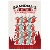 Personalized Grandma's Little Stocking Stuffers - Christmas Canvas