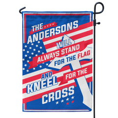 Personalized Stand for the Flag - Kneel for the Cross Flag – V2