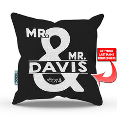Personalized Mr and Mrs Throw Pillow Cover – Version 2 - 18