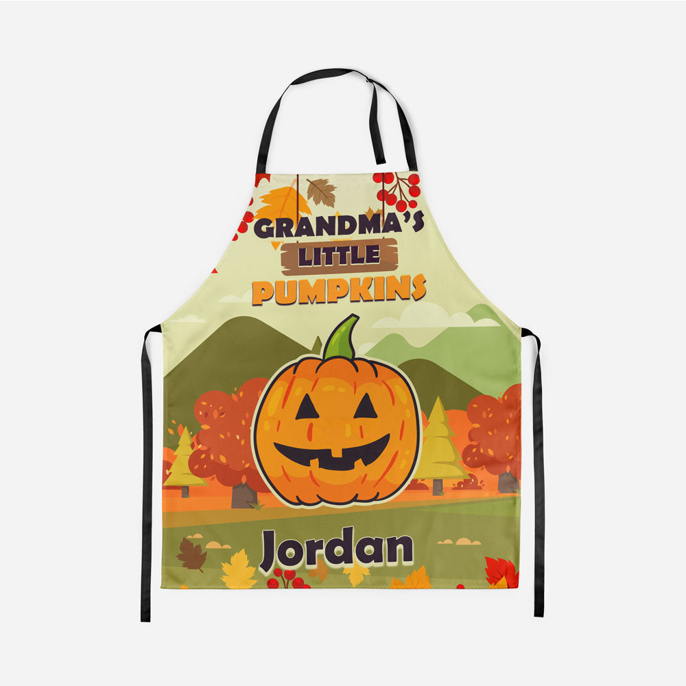 Personalized Grandma's Little Pumpkins Fall Apron