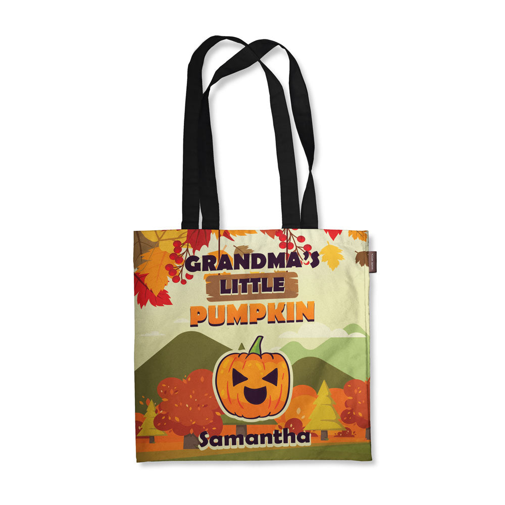 a43646c10c Personalized Grandma's Little Pumpkin Fall Tote Bag - Mostly Pillows