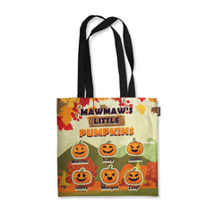 Personalized Grandma's Little Pumpkin Fall Tote Bag